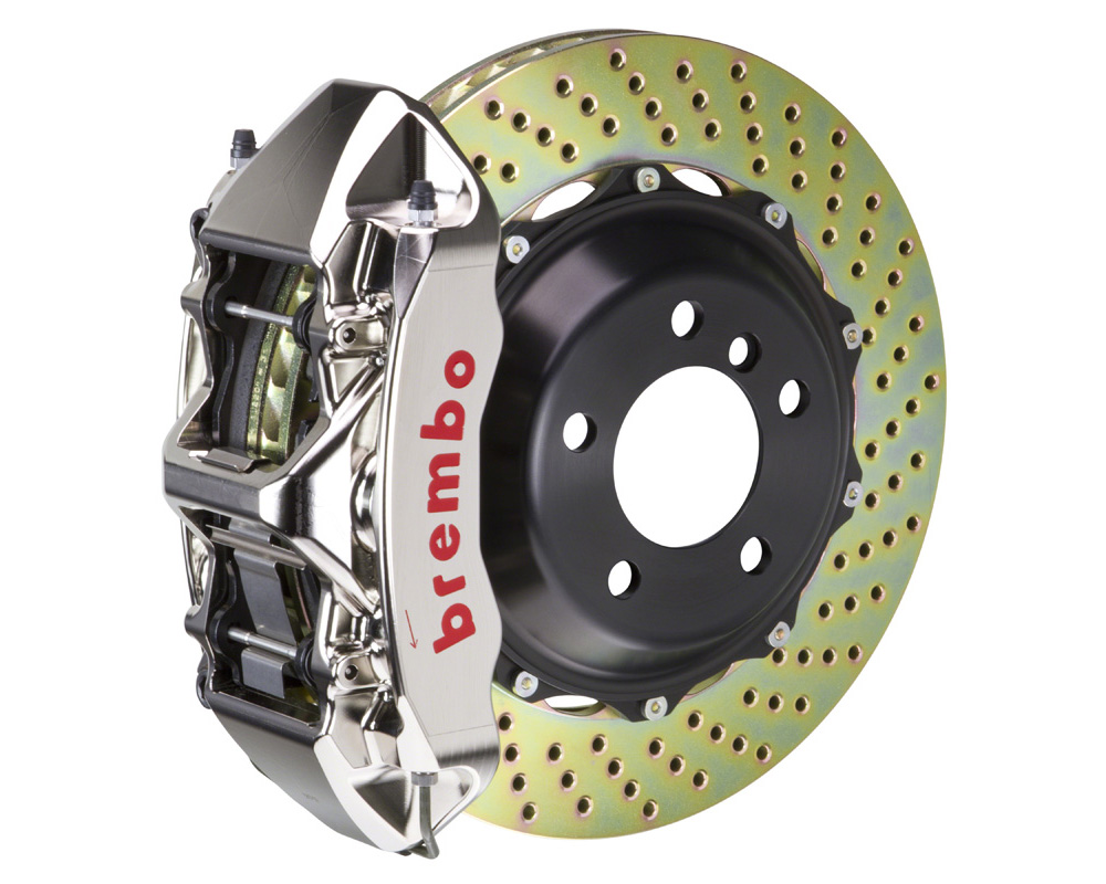 Brembo GT-R 355x32 2-Piece 6 Piston Nickel Plated Drilled Front Big Brake Kit - 1M1.8036AR
