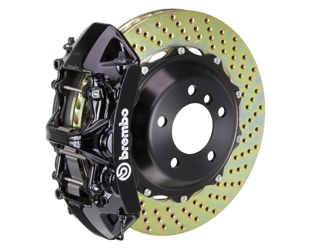 Brembo GT 380x32 2-Piece 6 Piston Black Drilled Front Big Brake Kit 08-16 - 1M1.9021A1
