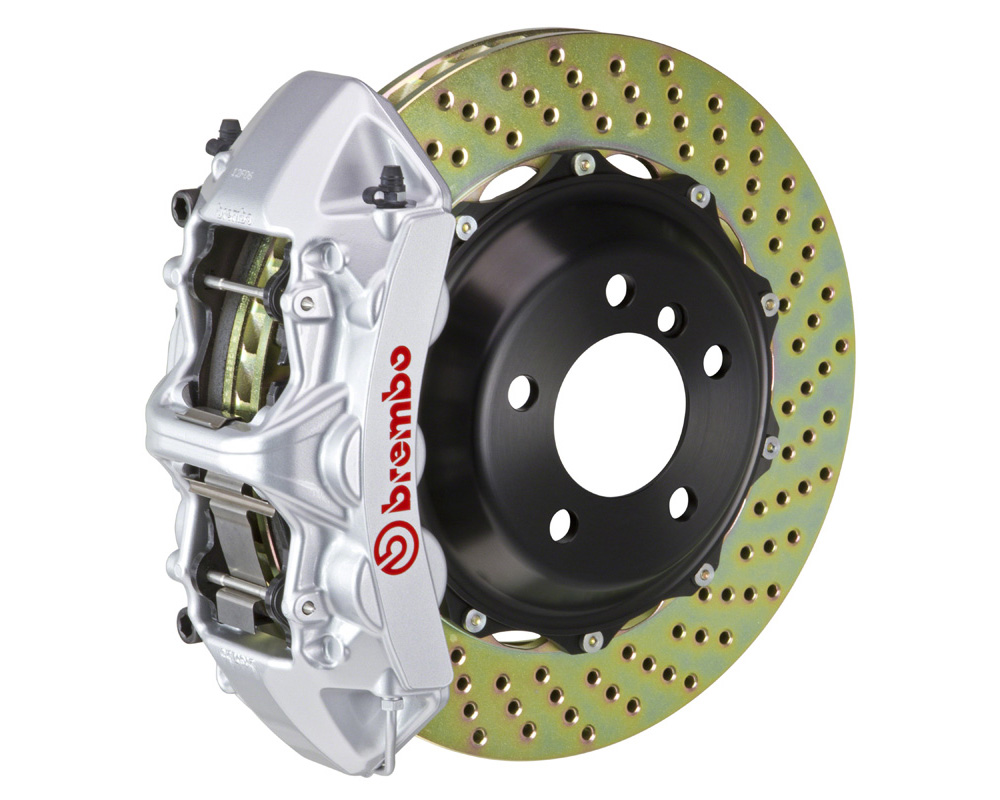 Brembo GT 380x32 2-Piece 6 Piston Silver Drilled Front Big Brake Kit - 1M1.9024A3
