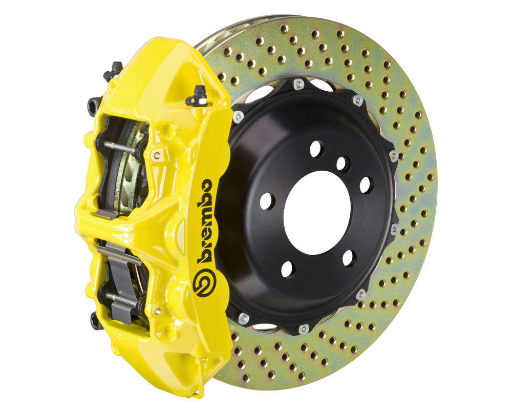 Brembo GT 380x32 2-Piece 6 Piston Yellow Drilled Front Big Brake Kit - 1M1.9024A5
