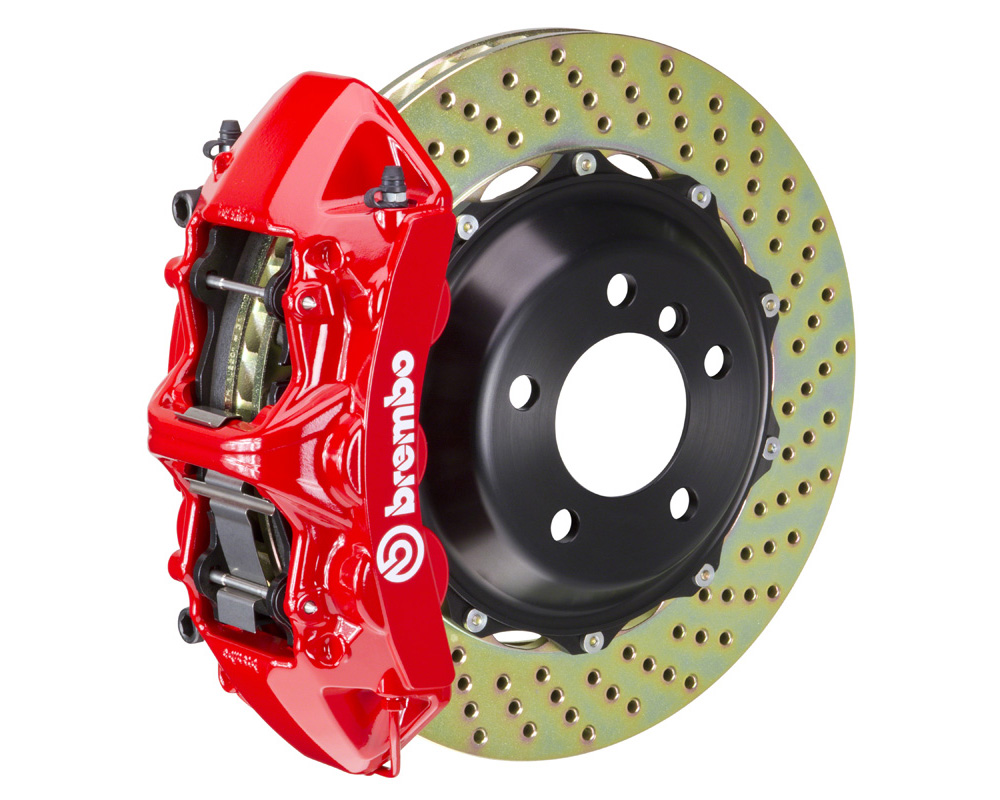 Brembo GT 380x32 2-Piece 6 Piston Red Drilled Front Big Brake Kit - 1M1.9054A2