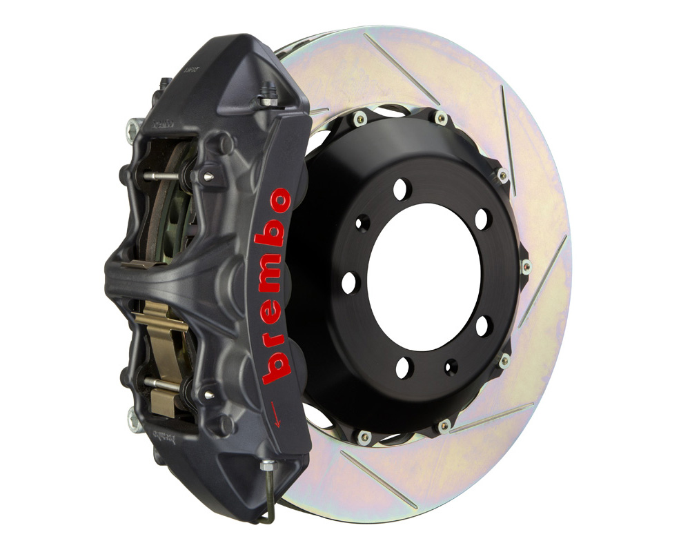 Brembo GT-S 355x32 2-Piece 6 Piston Hard Anodized Slotted Front Big Brake Kit - 1M2.8026AS