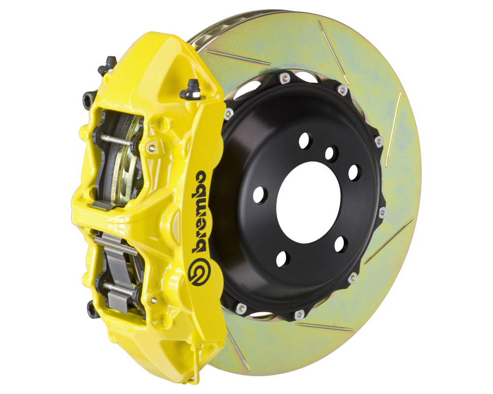Brembo GT 355x32 2-Piece 6 Piston Yellow Slotted Front Big Brake Kit - 1M2.8031A5