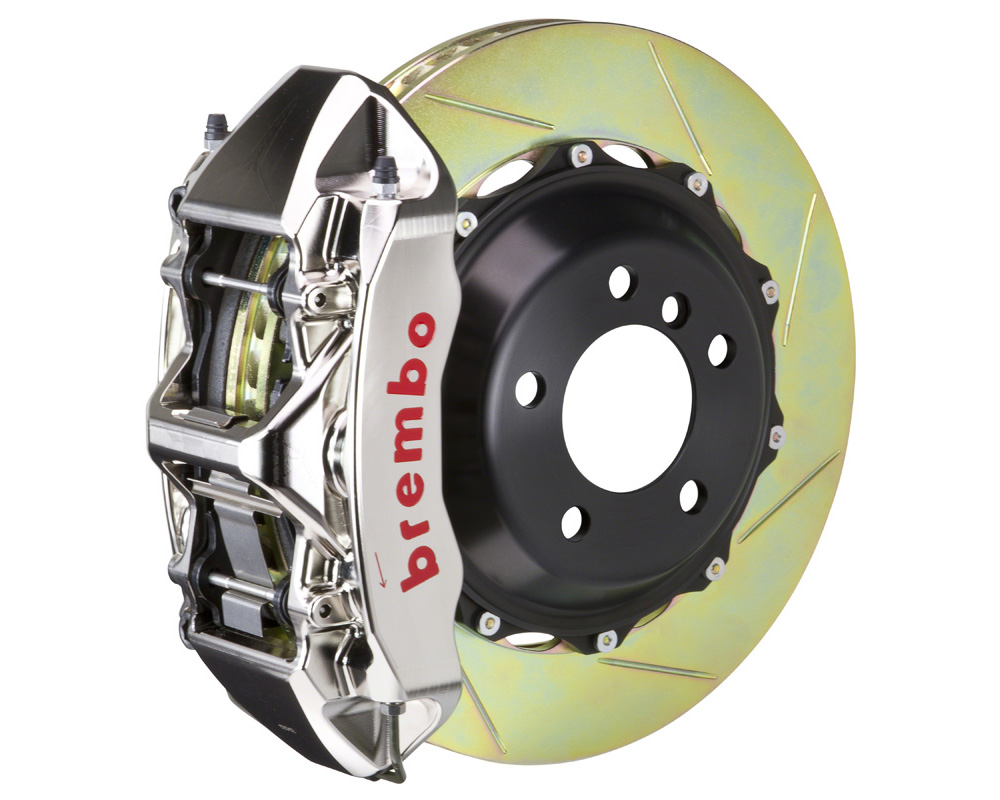 Brembo GT-R 355x32 2-Piece 6 Piston Nickel Plated Slotted Front Big Brake Kit - 1M2.8044AR