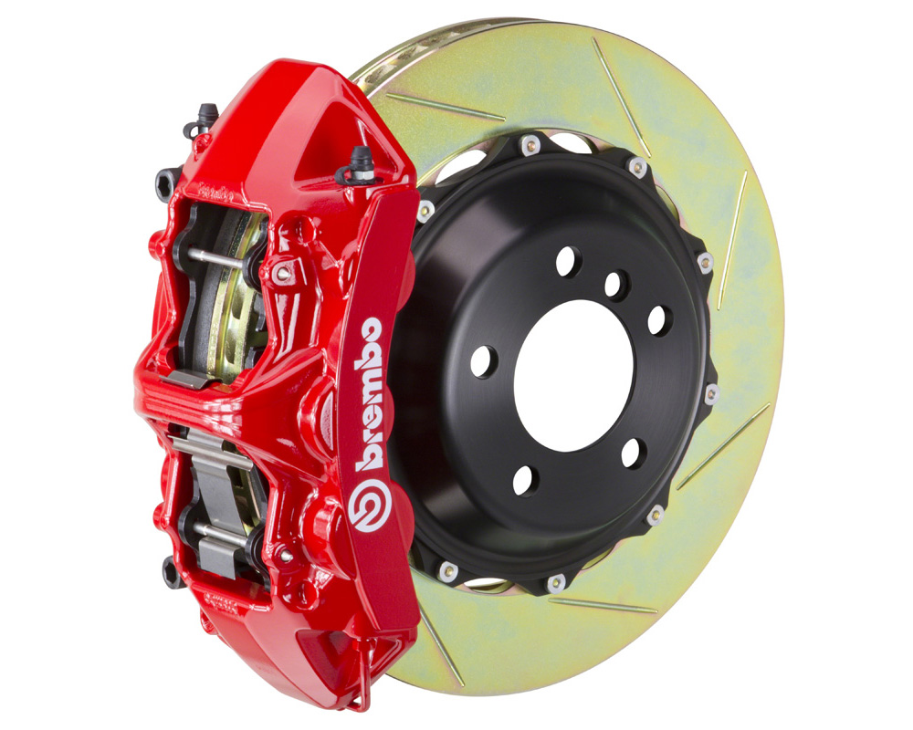 Brembo GT 355x32 2-Piece 6 Piston Red Slotted Front Big Brake Kit - 1M2.8063A2