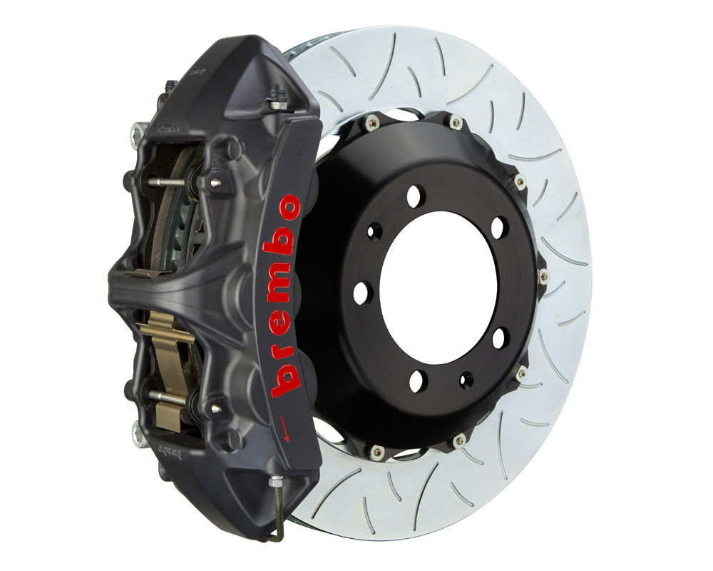 Brembo GT-S 355x32 2-Piece 6 Piston Hard Anodized Slotted Type-3 Front Big Brake Kit - 1M3.8026AS