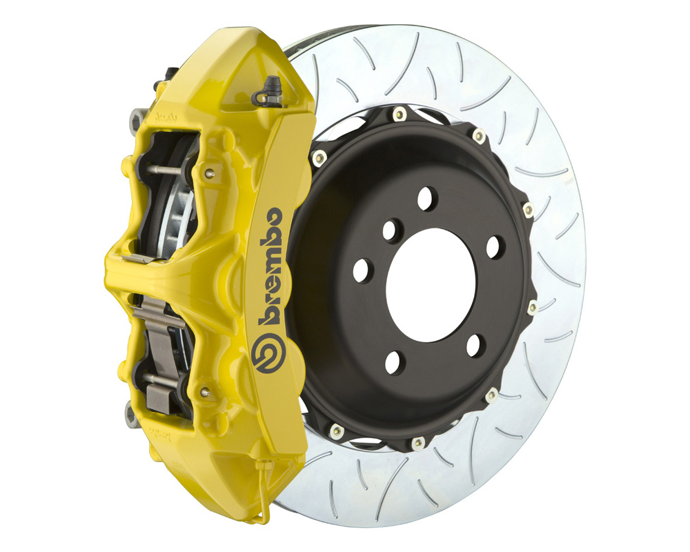 Brembo GT 355x32 2-Piece 6 Piston Yellow Slotted Type-3 Front Big Brake Kit - 1M3.8031A5