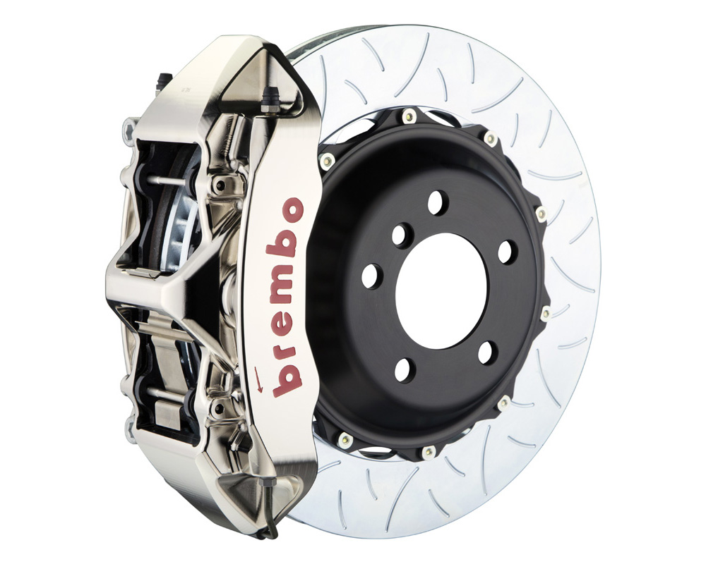 Brembo GT-R 355x32 2-Piece 6 Piston Nickel Plated Slotted Type-3 Front Big Brake Kit - 1M3.8045AR