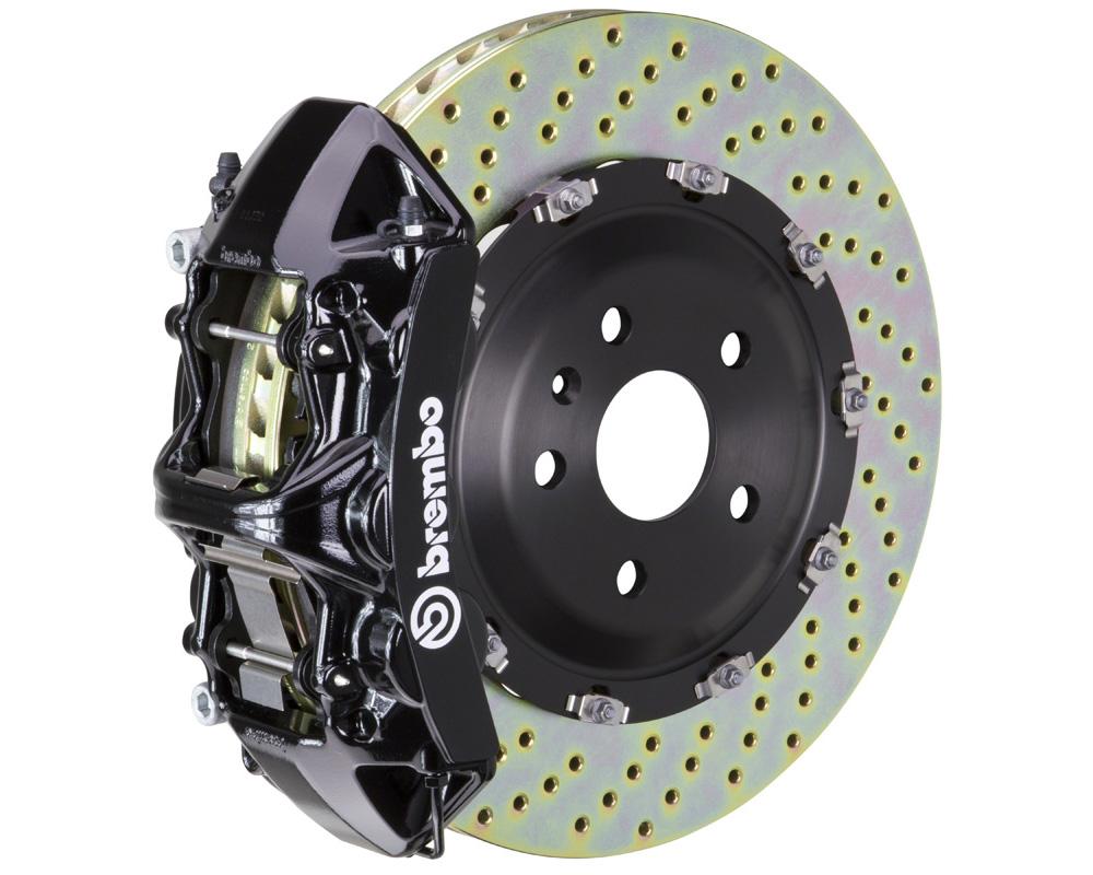 Brembo GT 365x34 2-Piece 6 Piston Black Drilled Front Big Brake Kit - 1N1.8501A1