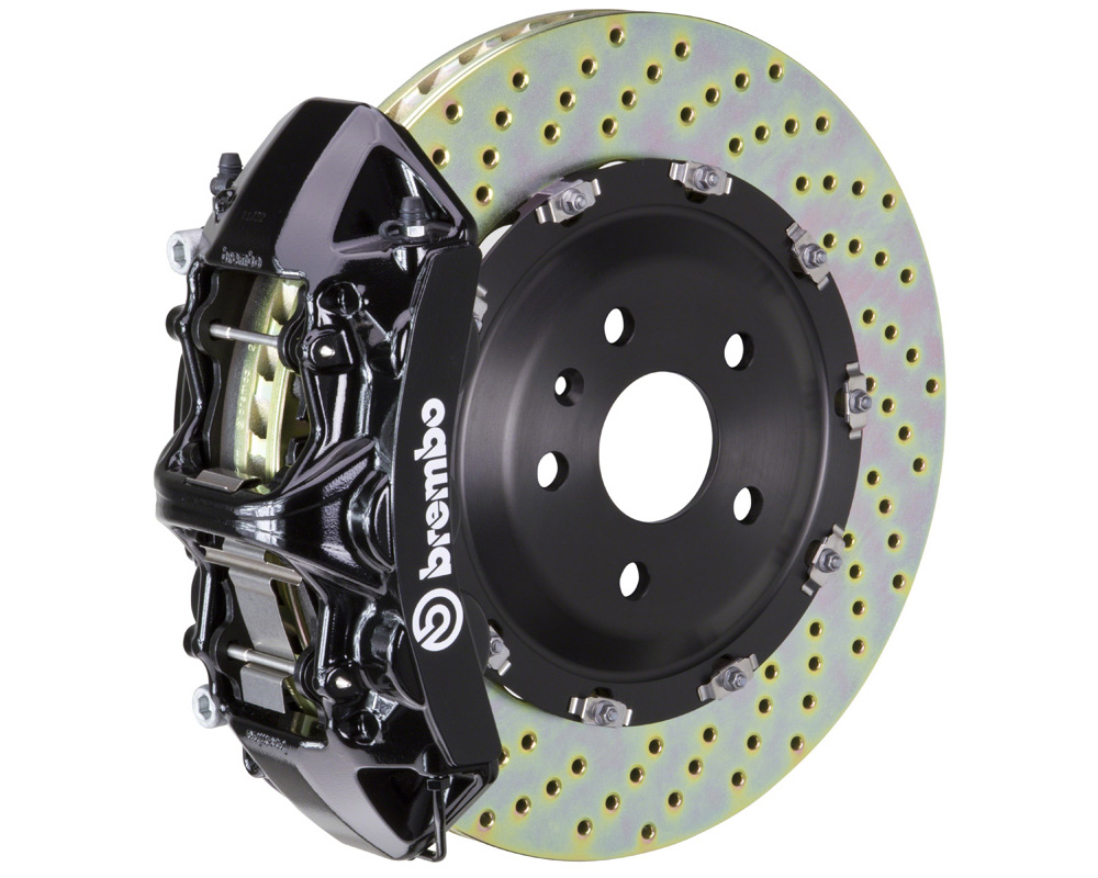 Brembo GT 380x34 2-Piece 6 Piston Black Drilled Front Big Brake Kit - 1N1.9047A1