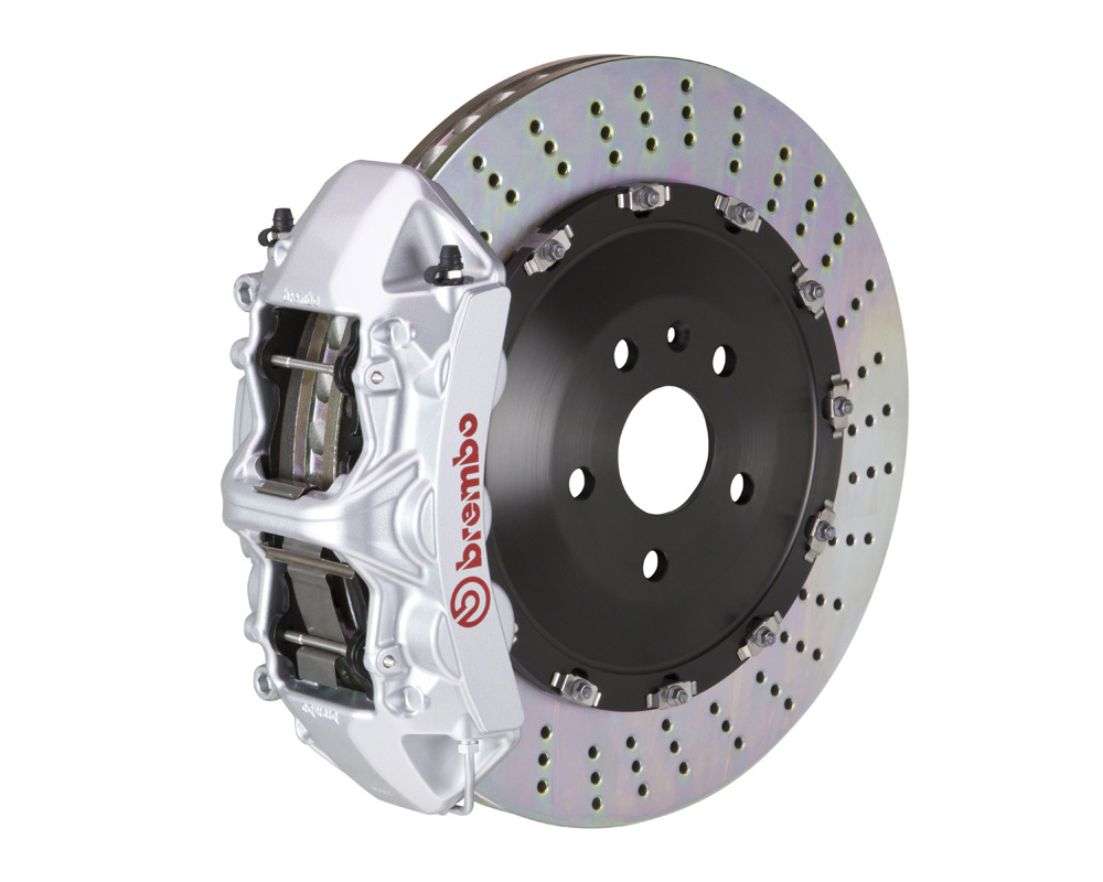 Brembo GT 405x34 2-Piece 6 Piston Silver Drilled Front Big Brake Kit - 1N1.9519A3