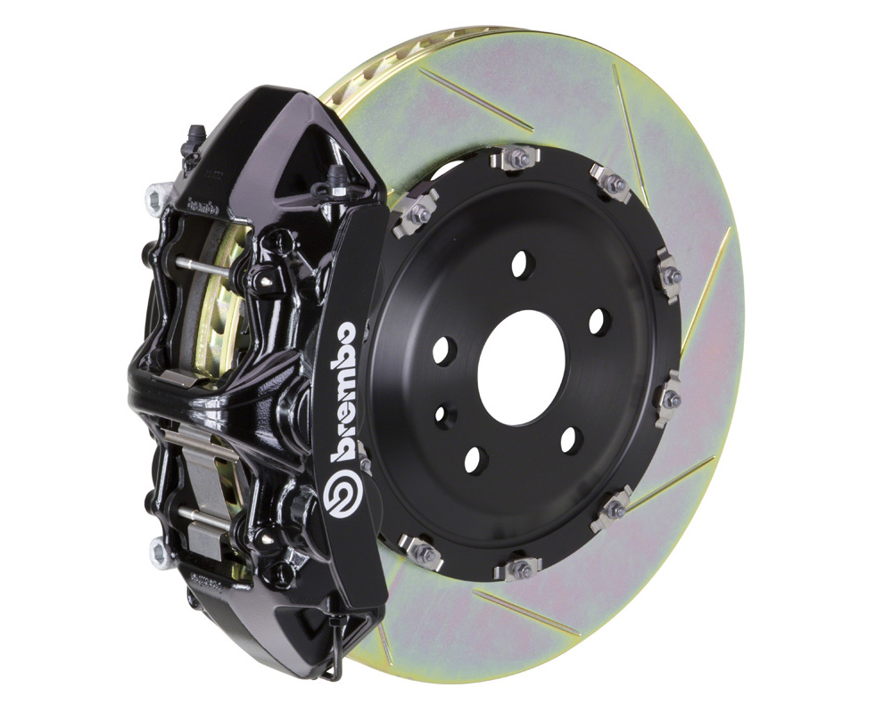 Brembo GT 365x34 2-Piece 6 Piston Black Slotted Front Big Brake Kit - 1N2.8508A1