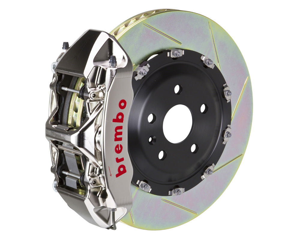 Brembo GT-R 365x34 2-Piece 6 Piston Nickel Plated Slotted Front Big Brake Kit - 1N2.8509AR