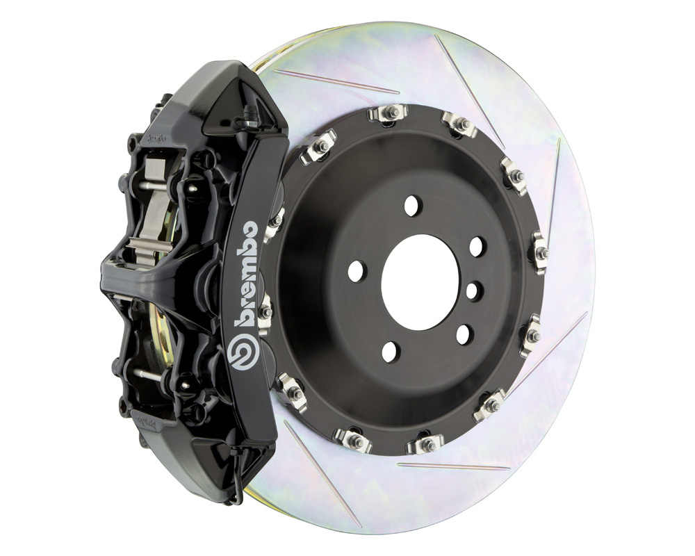 Brembo GT 405x34 2-Piece 6 Piston Black Slotted Front Big Brake Kit - 1N2.9521A1
