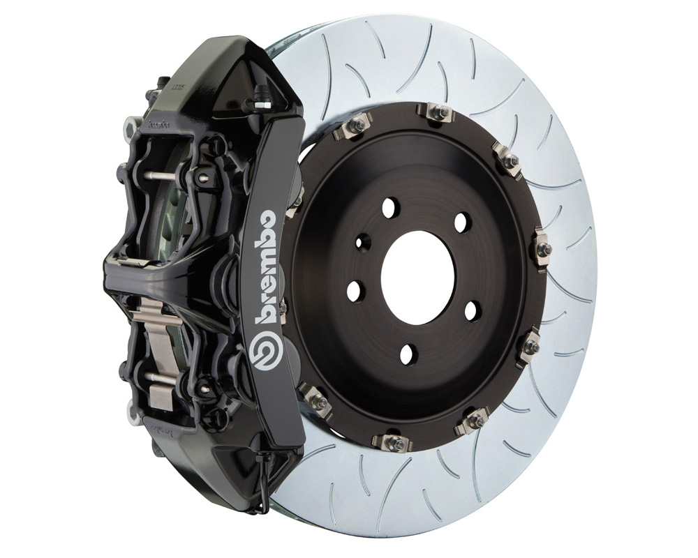 Brembo GT 380x34 2-Piece 6 Piston Black Slotted Type-3 Front Big Brake Kit - 1N3.9029A1