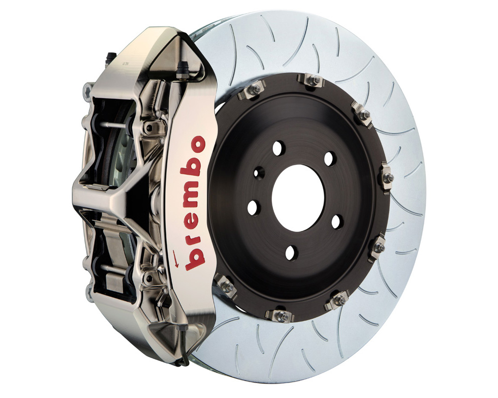 Brembo GT-R 405x34 2-Piece 6 Piston Nickel Plated Slotted Type-3 Front Big Brake Kit - 1N3.9514AR
