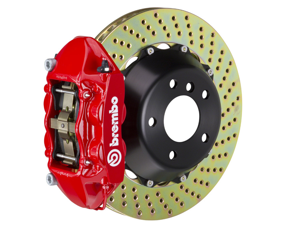 Brembo GT 365x29 2-Piece 4 Piston Red Drilled Front Big Brake Kit - 1P1.8520A2
