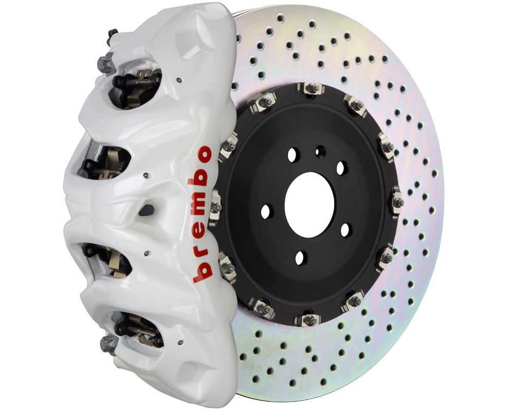 Brembo Brake Kit >> Brembo Gt 412x38 2 Piece 8 Piston White Drilled Front Big Brake Kit