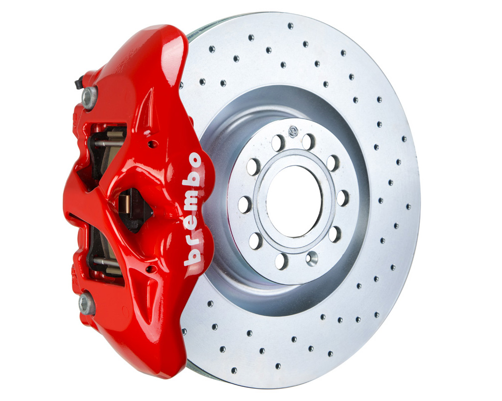 Brembo GT 345x30 1-Piece 4 Piston Red Drilled Front Big Brake Kit - 1S4.8002A2