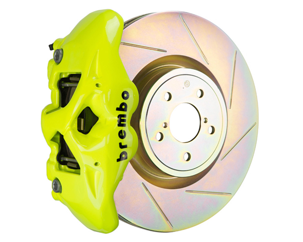 Brembo GT 326x30 1-Piece 4 Piston Fluo. Yellow Slotted Front Big Brake Kit - 1S5.6002A7