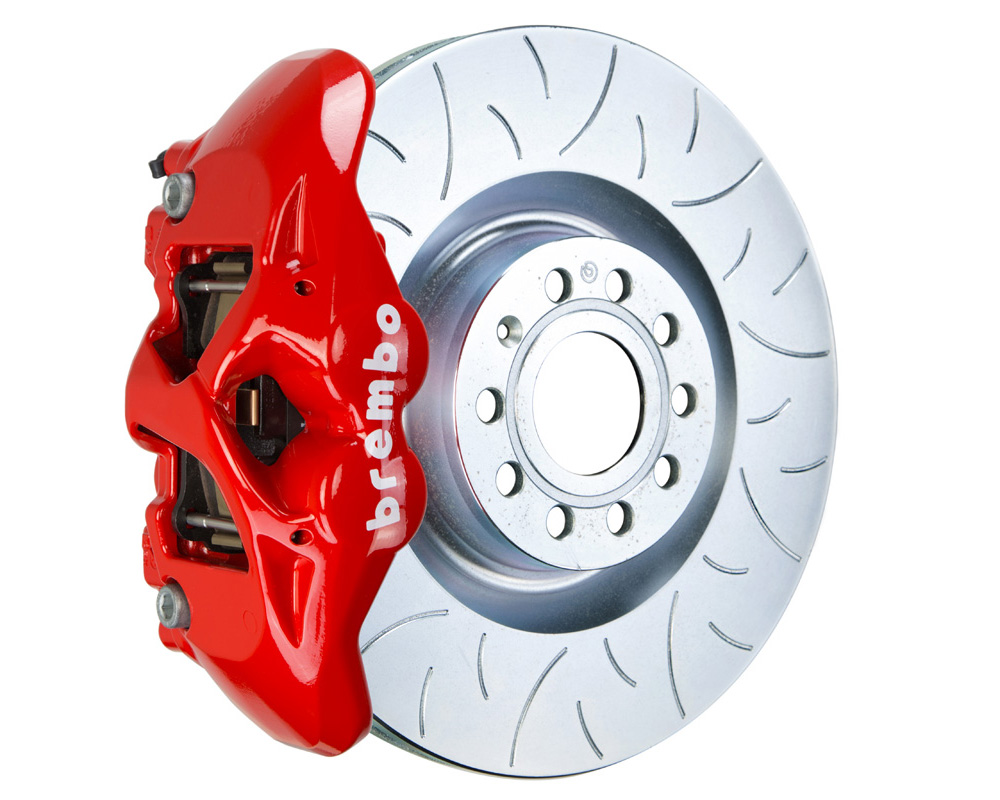 Brembo GT 345x30 1-Piece 4 Piston Red Slotted Type-3 Front Big Brake Kit - 1S5.8001A2