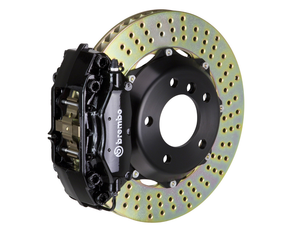 Brembo GT 328x28 2-Piece 4 Piston Black Drilled Rear Big Brake Kit - 2C1.6007A1