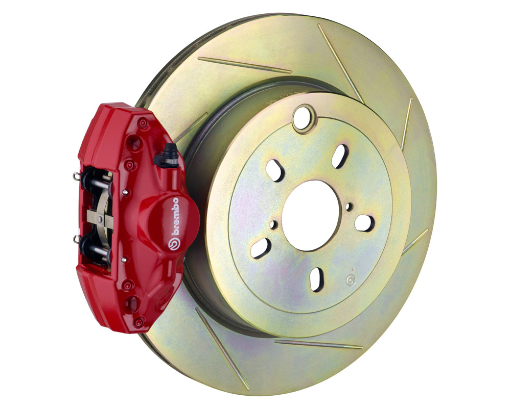 Brembo GT 294x19 1-Piece 2 Piston Red Slotted Rear Big Brake Kit - 2E5.4002A2