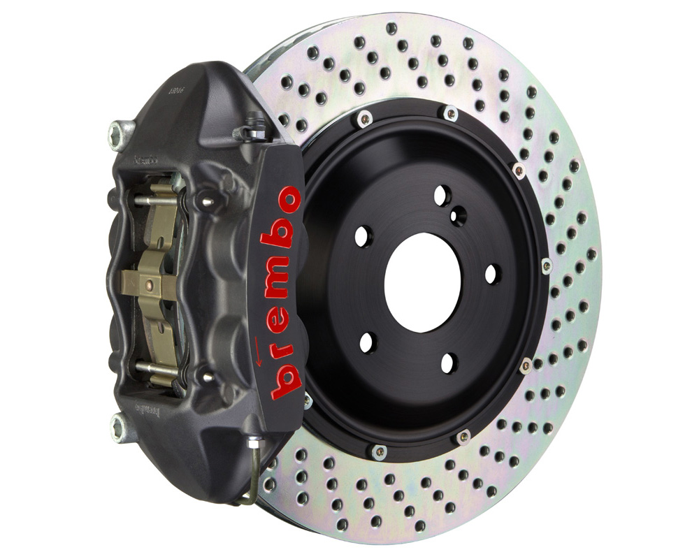 Brembo GT-S 345x28 2-Piece 4 Piston Hard Anodized Drilled Rear Big Brake Kit - 2P1.8008AS