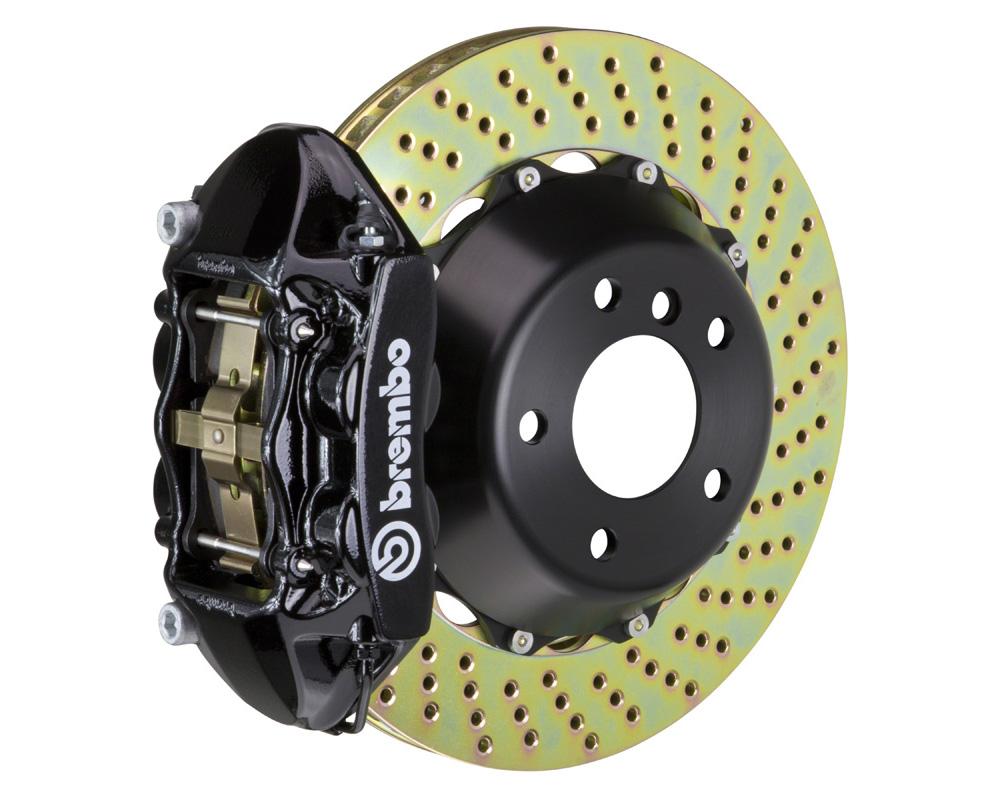 Brembo GT 345x28 2-Piece 4 Piston Black Drilled Rear Big Brake Kit - 2P1.8018A1
