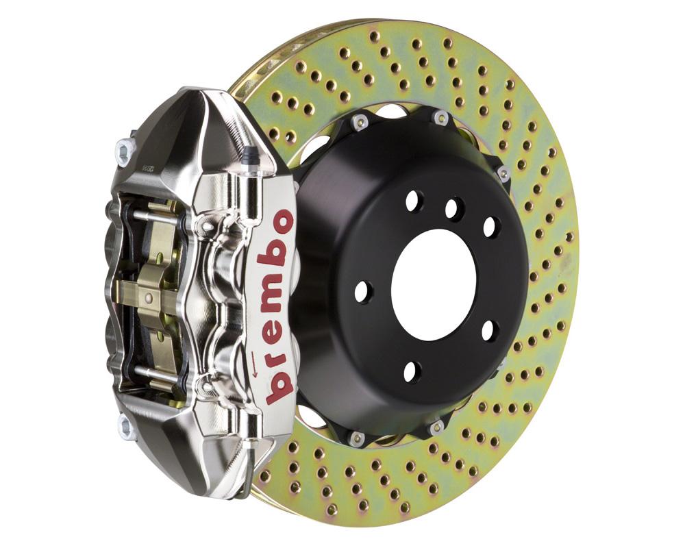 Brembo GT-R 380x28 2-Piece 4 Piston Nickel Plated Drilled Rear Big Brake Kit - 2P1.9003AR