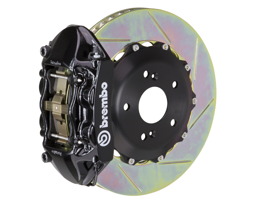 Brembo GT 328x28 2-Piece 4 Piston Black Slotted Rear Big Brake Kit - 2P2.6007A1