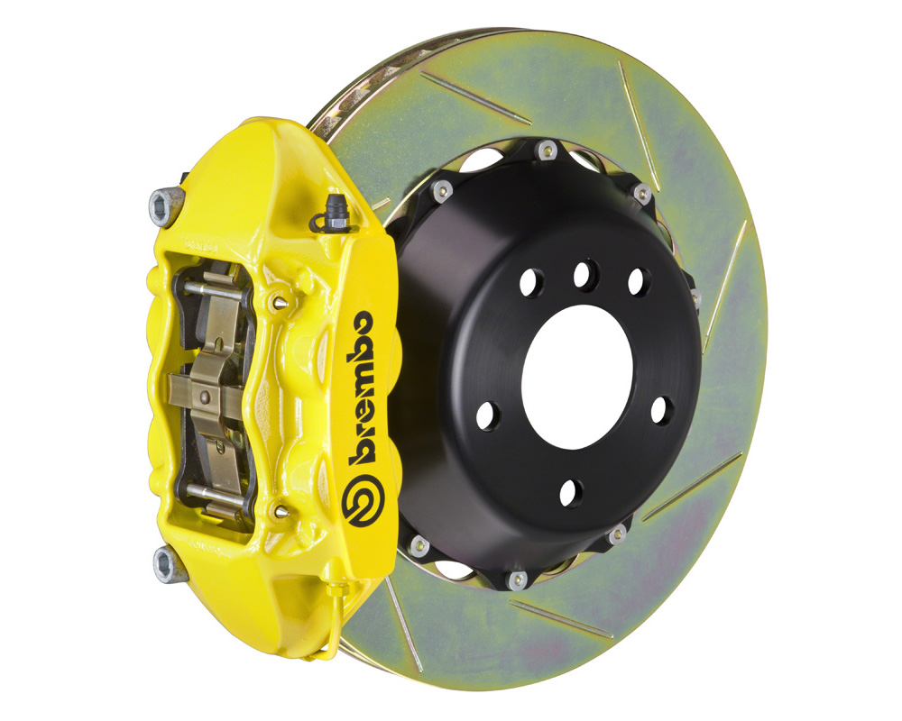 Brembo GT 345x28 2-Piece 4 Piston Yellow Slotted Rear Big Brake Kit - 2P2.8002A5