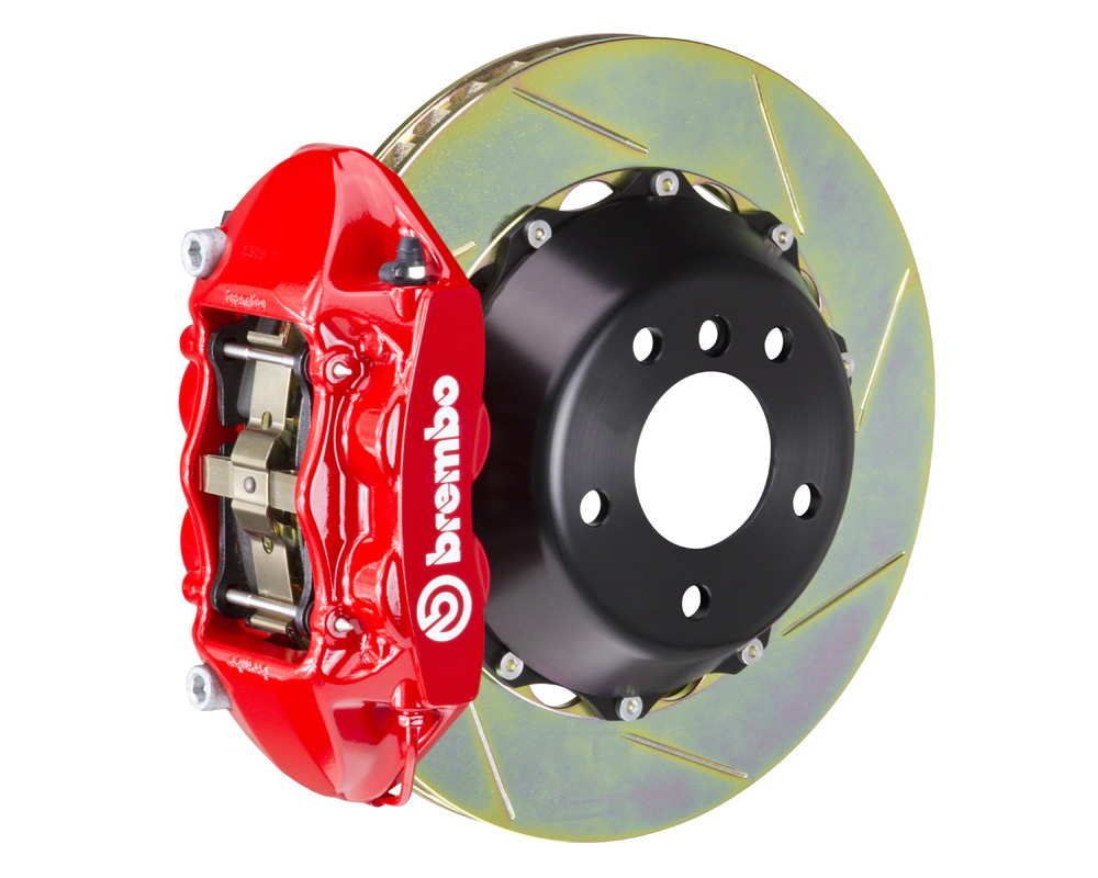 Brembo GT 345x28 2-Piece 4 Piston Red Slotted Rear Big Brake Kit - 2P2.8029A2