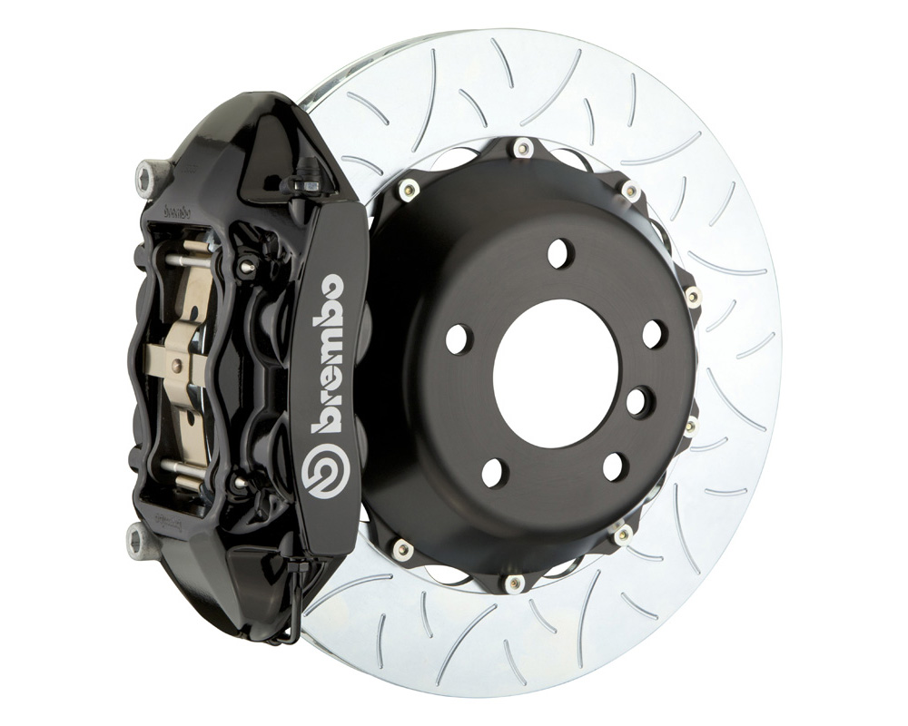 Brembo GT 345x28 2-Piece 4 Piston Black Slotted Type-3 Rear Big Brake Kit - 2P3.8039A1