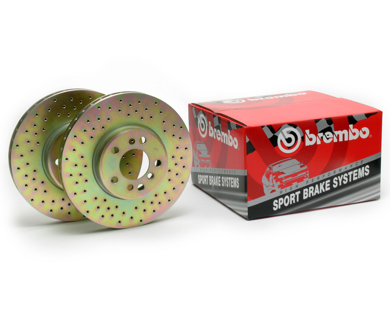 Brembo Cross Drilled Sport Disc Brake Rotors Front Pair Honda Civic 90-00