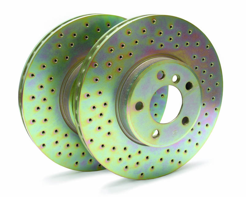 Image of Brembo GT 345x28mm Drilled 2-Piece Rear Rotor Kit Lexus RC-F 2015