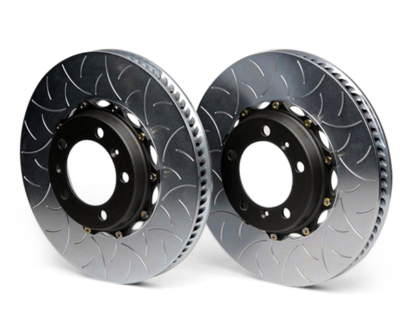 Brembo GT 350 mm 2pc Rear Slotted Rotors Porsche Cayman S w/PCCB 06-12