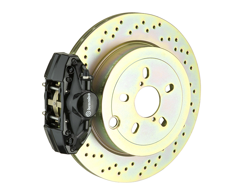 Brembo GT 294x19 1-Piece 2 Piston Black Drilled Rear Big Brake Kit BMW 3-Series E46 Excluding xDrive 99-05