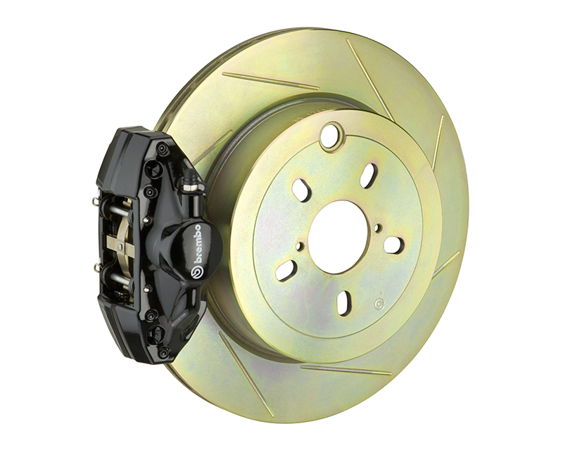 Brembo GT 316x20 1-Piece 2 Piston Black Slotted Rear Big Brake Kit Subaru Legacy 2.5i 10-14 - 2E5.5002A1