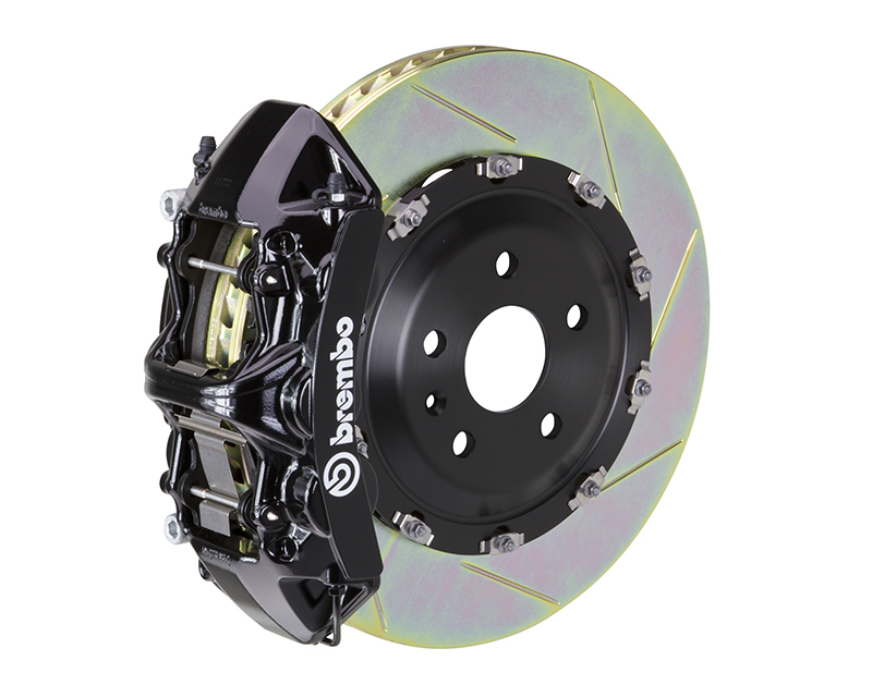 Brembo GT 380x34 2-Piece 6 Piston Black Slotted Front Big Brake Kit Maserati Gran Turismo 07-17 - 1N2.9016A1