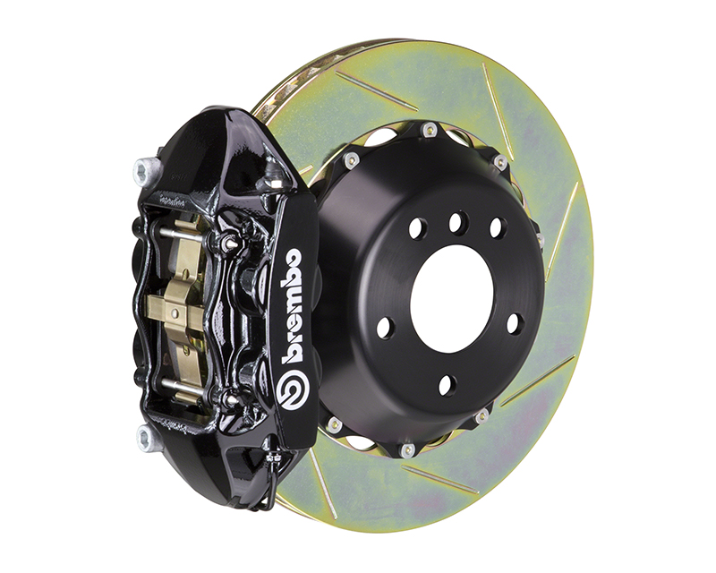 Brembo GT 345x28 2-Piece 4 Piston Black Slotted Rear Big Brake Kit Ferrari 550/575 Excluding GTC 96-05 - 2P2.8018A1