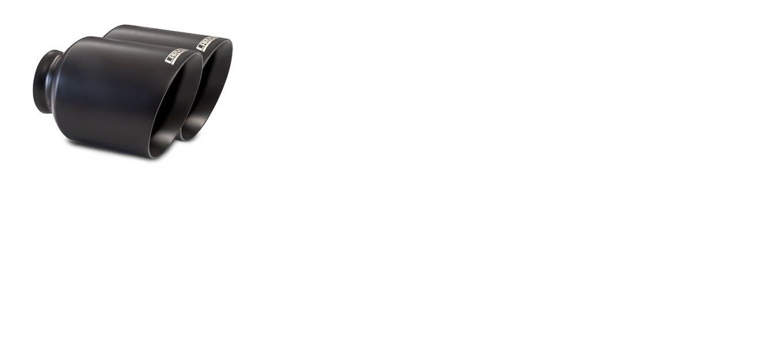 "Carven Exhaust 5.00"" Ceramic Black Exhaust Tip Replacement Set Dodge Durango SRT 2017-2019 - CD1004"