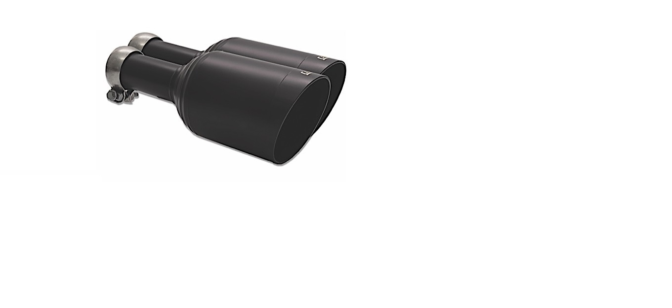 """Carven Exhaust Direct Fit 5.0"""" Ceramic Black Exhaust Tip Replacement Set Ram Truck 1500 2009 - 2018 - CR1002"""