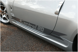 Central 20 350Z Side Skirts FPR