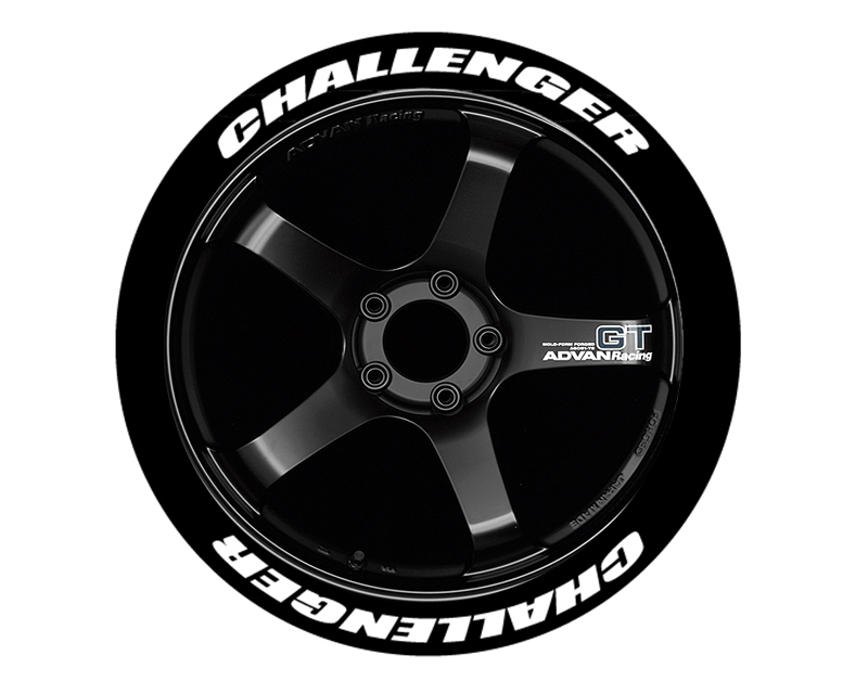 Tire Stickers Permanent Raised Rubber Lettering 'Challenger - TS-CHALLENGER-RR