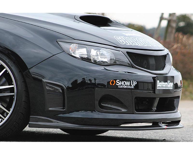 ChargeSpeed Bottom Line FRP Front Lip Spoiler Subaru WRX STI GRB 08-12 - CS979FL1F