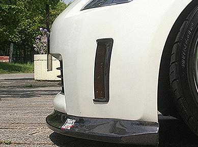 ChargeSpeed Carbon Bumper Reflector Cowl Nissan 350Z Z33 Zenki 03-05 - CS722RCWC