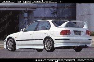 ChargeSpeed Rear Skirt Honda Civic EK 4dr Zenki 96-98 - CS617RSZ