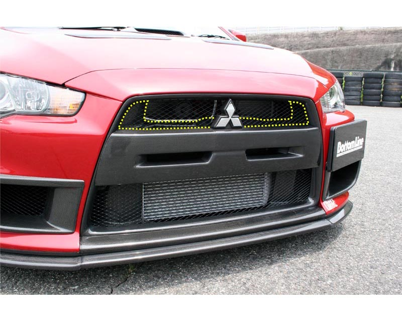 ChargeSpeed Carbon Upper Inner Grill Mitsubishi EVO X 08-12 - CS427UIGC