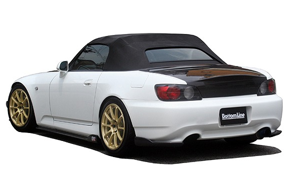 ChargeSpeed Bottom Line Carbon Rear Lip Caps Honda S2000 AP2 05-08